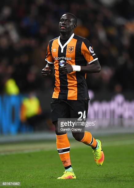 Oumar Niasse of Hull City in action during the Premier League match between Hull City and AFC Bournemouth at KCOM Stadium on January 14 2017 in Hull...