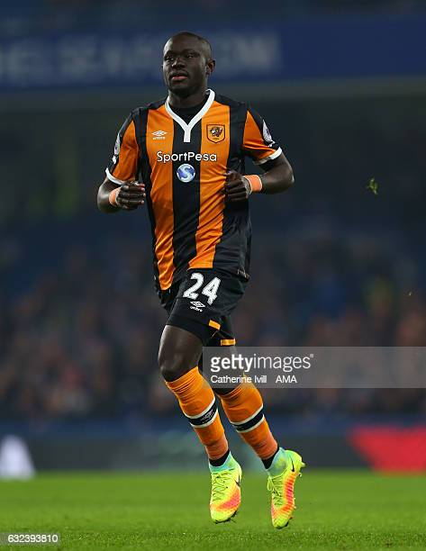 Oumar Niasse of Hull Ciy during the Premier League match between Chelsea and Hull City at Stamford Bridge on January 22 2017 in London England