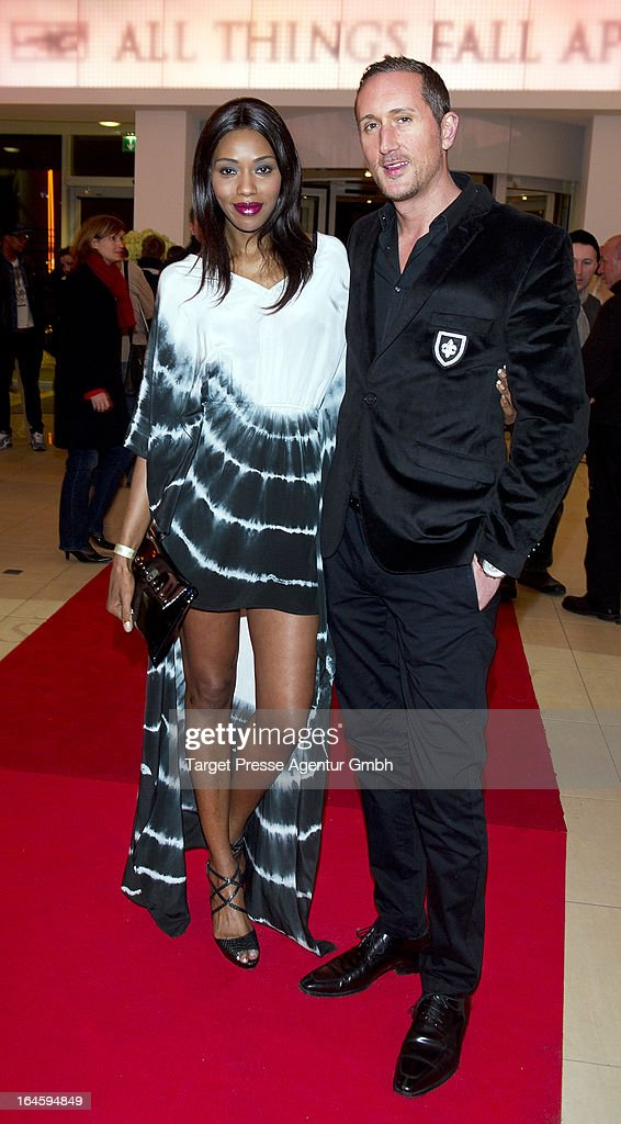 Oumo and Jay C attend the aftershow party to the german premiere of his movie 'All Things Fall Apart' at Hotel Berlin on March 24, 2013 in Berlin, Germany.
