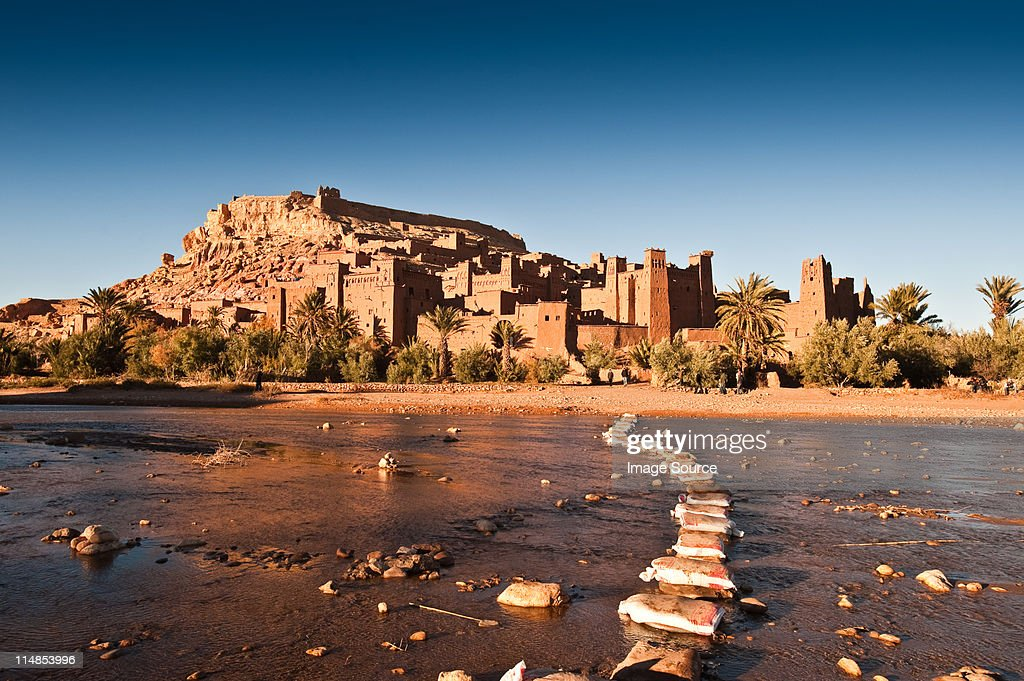 Ounila River and Ait-Ben-Haddou, Morocco, North Africa