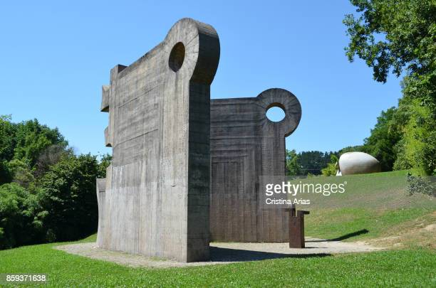 Our Father's House Eduardo Chillida's sculpture in Parque de los pueblos de Europa on 19 June 2017 GernikaLumo Basque Country Spain