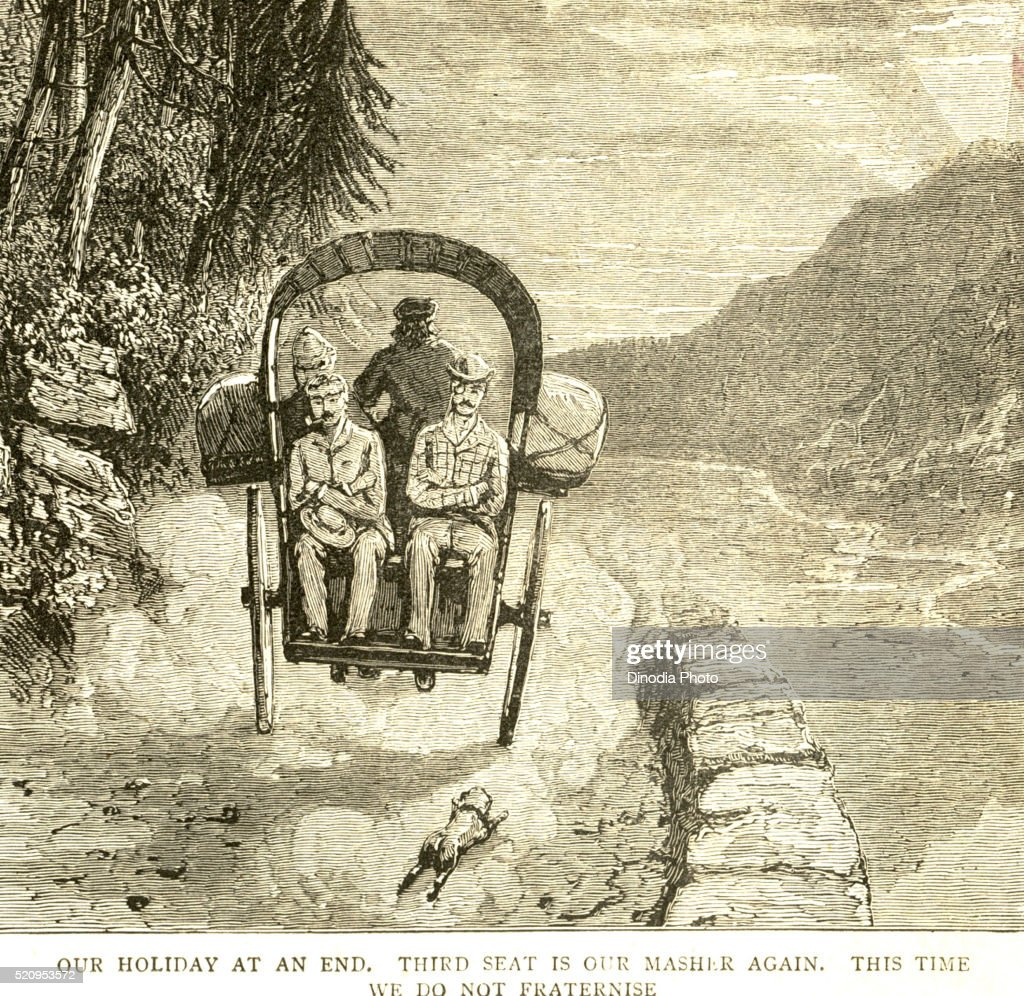 Our holiday at end, third seat is our Masher again this time we do not fraternize, the Graphic 27th March 1886