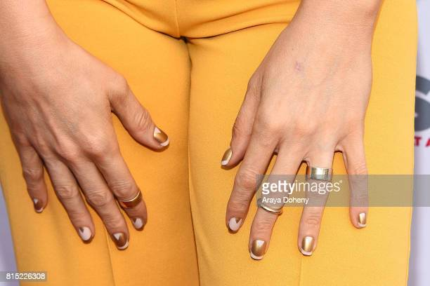 Our Lady J nail detail attends the 2017 Outfest Los Angeles LGBT Film Festival screening of Amazon's 'Transparent' Season 4 at Director's Guild Of...
