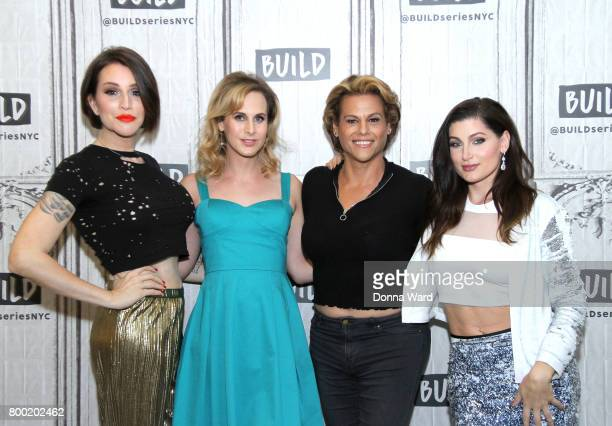 Our Lady J Zackary Drucker Alexandra Billings and Trace Lysette from 'Transparent' attend BUILD Series at Build Studio on June 23 2017 in New York...