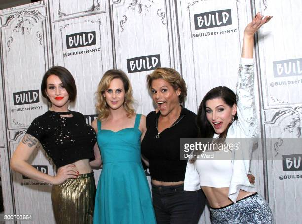 Our Lady J Zackary Drucker Alexandra Billings and Trace Lysette of 'Transparent' attend the BUILD Series at Build Studio on June 23 2017 in New York...