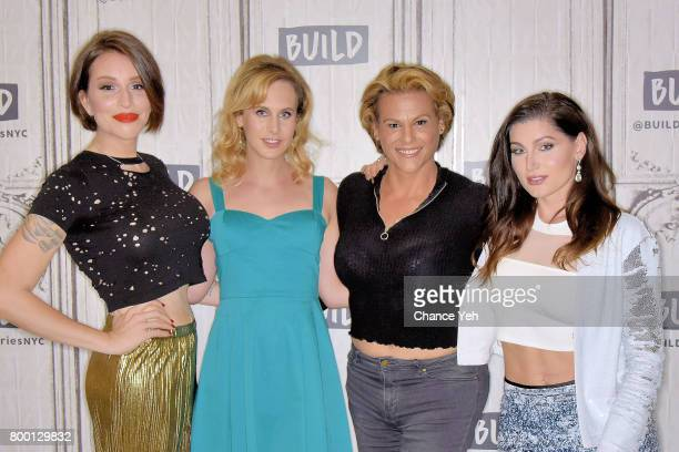 Our Lady J Zackary Drucker Alexandra Billings Trace Lysette attend Build series to discuss 'Transparent' at Build Studio on June 23 2017 in New York...