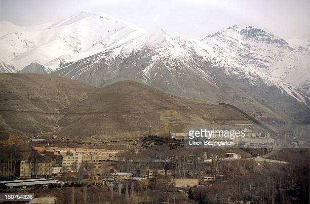 IRAN TEHRAN Our picture shows the Evin prison in Tehran and the Elburs mountains