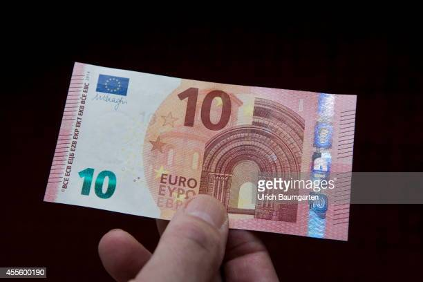Our picture shows the new 10 Euro banknotes on September 17 2014 in Co0logne Germany