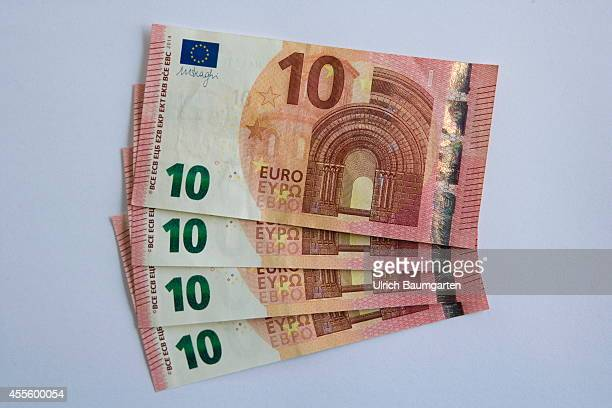 Our picture shows the new 10 Euro banknotes on September17 2014 in Cologne Germany