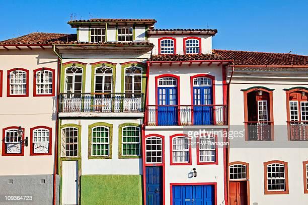 Ouro Preto colorful buildings
