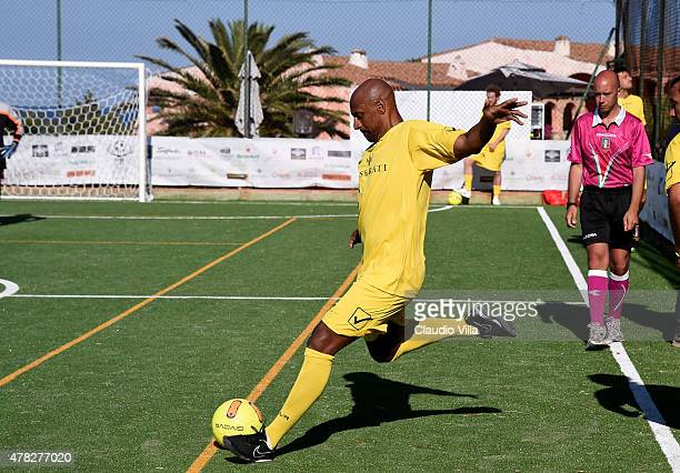 Ousmane Dabo in action during Porto Cervo Summer 2015 Fiveaside Football Tournament Day One on June 24 2015 in Porto Cervo Italy