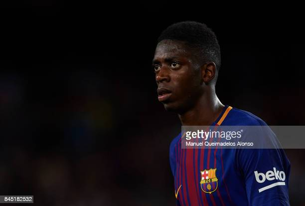 Ousmane Dembele of Barcelona looks on after the La Liga match between Barcelona and Espanyol at Camp Nou on September 9 2017 in Barcelona Spain