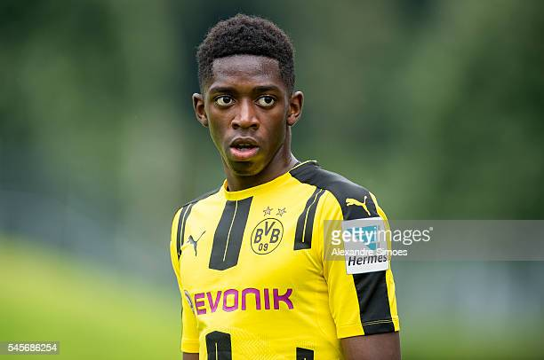 Ousmane Dembele of Borussia Dortmund during the preseason friendly match between Wuppertaler SV v Borussia Dortmund on July 9 2016 in Wuppertal...