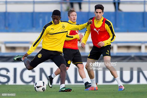 Ousmane Dembele of Borussia Dortmund in action during the sixth day of the training camp in Marbella on January 10 2017 in Marbella Spain