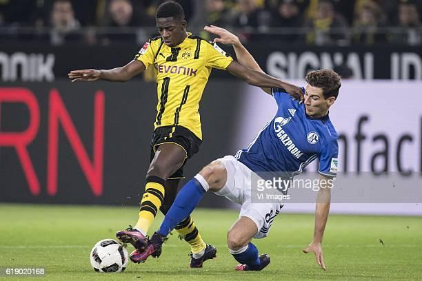 Ousmane Dembele of Borussia Dortmund Leon Goretzka of Schalke o4during the Bundesliga match between Borussia Dortmund and Schalke 04 on October 29...
