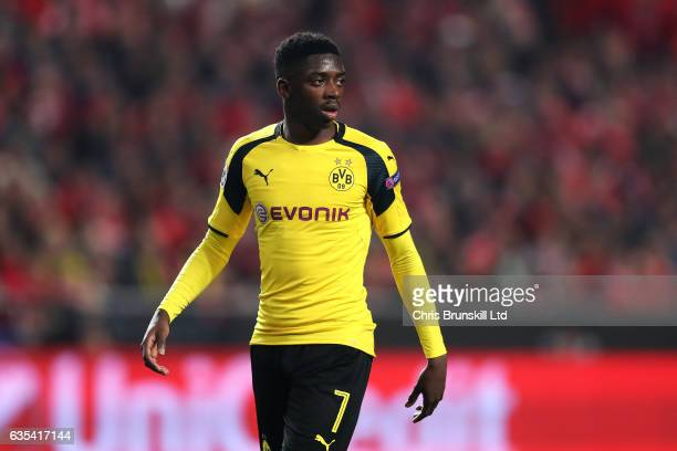 Ousmane Dembele of Borussia Dortmund looks on during the UEFA Champions League Round of 16 first leg match between SL Benfica and Borussia Dortmund...