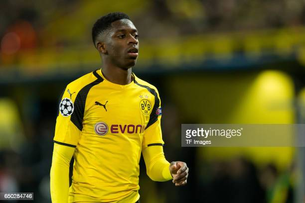 Ousmane Dembele of Borussia Dortmund looks on during the UEFA Champions League Round of 16 Second Leg match between Borussia Dortmund and SL Benfica...