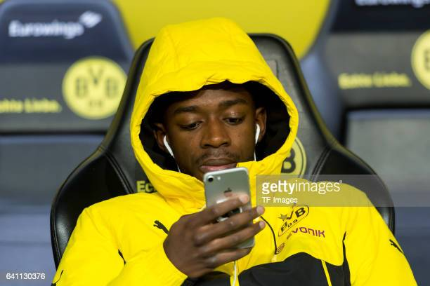 Ousmane Dembele of Borussia Dortmund sits on the bench during the Bundesliga soccer match between Borussia Dortmund and RB Leipzig at the Signal...