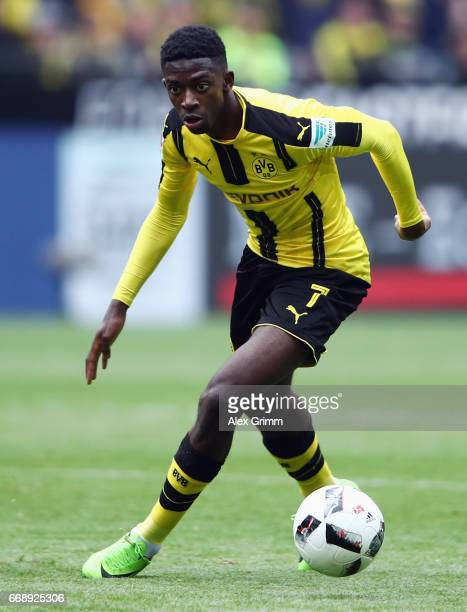 Ousmane Dembele of Dortmund controles the ball during the Bundesliga match between Borussia Dortmund and Eintracht Frankfurt at Signal Iduna Park on...