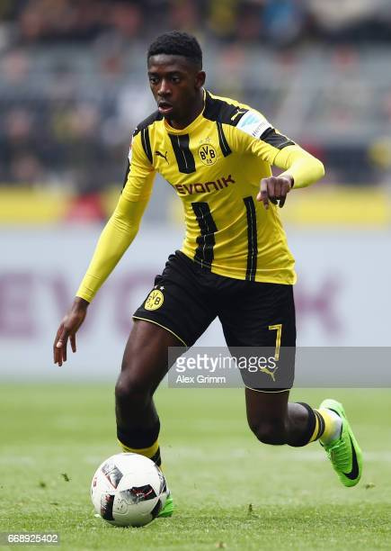Ousmane Dembele of Dortmund controles the ball during the Bundesliga match between Borussia Dortmund and Eintracht Frankfurt at Signal Iduna Park on...