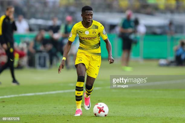 Ousmane Dembele of Dortmund controls the ball during the DFB Cup final match between Eintracht Frankfurt and Borussia Dortmund at Olympiastadion on...