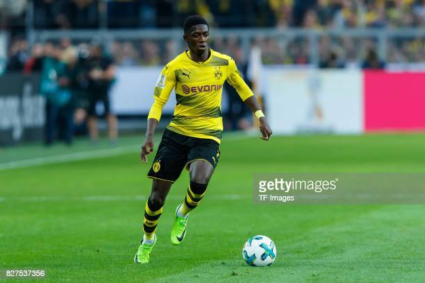 Ousmane Dembele of Dortmund controls the ball during the DFL Supercup 2017 match between Borussia Dortmund and Bayern Muenchen at Signal Iduna Park...