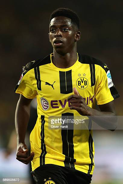 Ousmane Dembele of Dortmund during DFL Supercup 2016 match between Borussia Dortmund and FC Bayern Muenchen at Signal Iduna Park on August 14 2016 in...