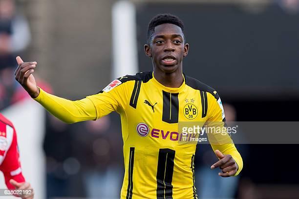 Ousmane Dembele of Dortmund gestures during the friendly match between Borussia Dortmund v PSV Eindhoven Friendly Match at Estadio Municipal La Linea...