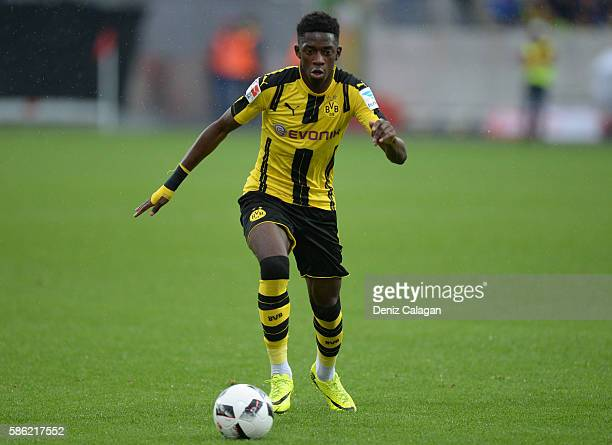 Ousmane Dembele of Dortmund in action during the friendly match between AFC Sunderland v Borussia Dortmund at Cashpoint Arena on August 5 2016 in...