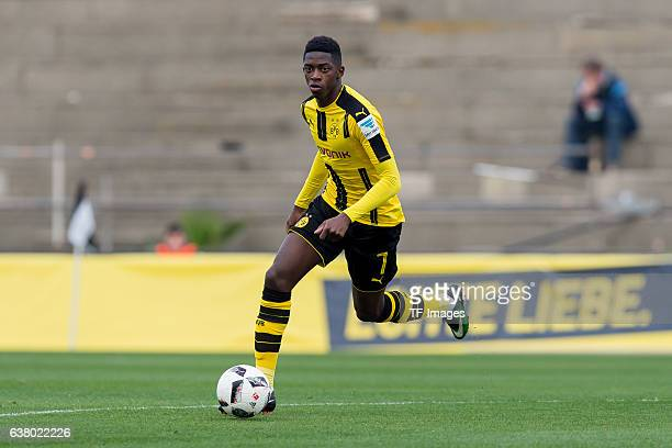 Ousmane Dembele of Dortmund in action during the friendly match between Borussia Dortmund v PSV Eindhoven Friendly Match at Estadio Municipal La...