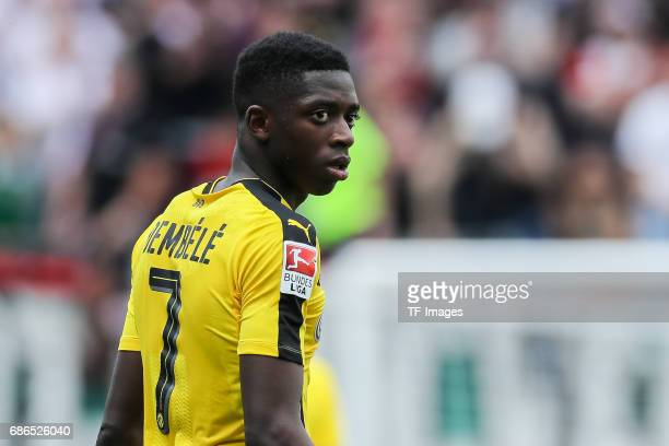 Ousmane Dembele of Dortmund looks on during the Bundesliga match between FC Augsburg and Borussia Dortmund at the WWKArena on May 13 2017 in Augsburg...