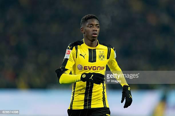 Ousmane Dembele of Dortmund looks on during the Bundesliga match between Borussia Dortmund and Borussia Moenchengladbach at Signal Iduna Park on...