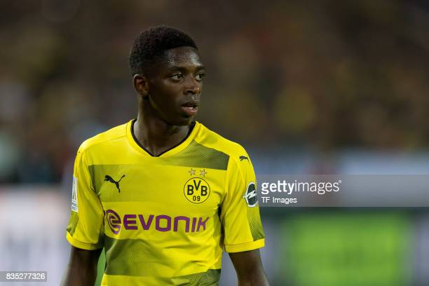 Ousmane Dembele of Dortmund looks on during the DFL Supercup 2017 match between Borussia Dortmund and Bayern Muenchen at Signal Iduna Park on August...