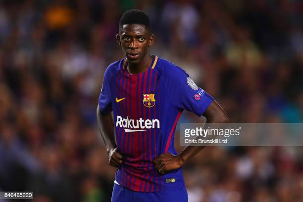 Ousmane Dembele of FC Barcelona looks on during the UEFA Champions League Group D match between FC Barcelona and Juventus at Camp Nou on September 12...