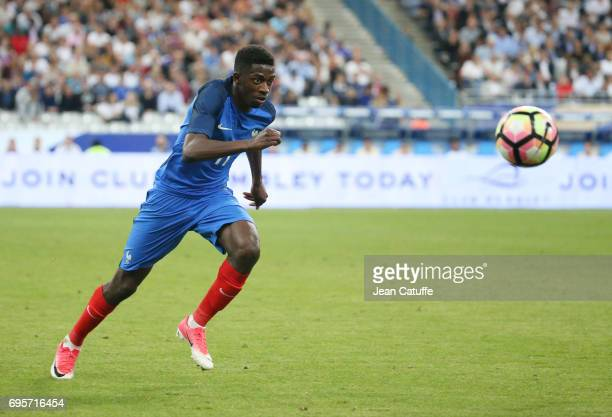 Ousmane Dembele of France during the international friendly match between France and England at Stade de France on June 13 2017 in SaintDenis near...