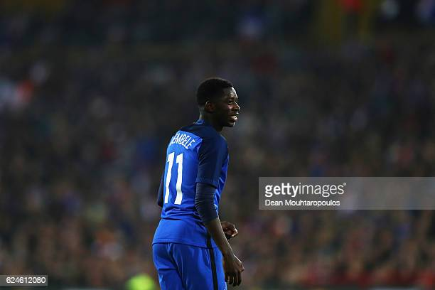 Ousmane Dembele of France in action during the International Friendly match between France and Ivory Coast held at Stade Felix Bollaert Deleis on...