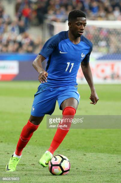 Ousmane Dembele of France in action during the international friendly match between France and Spain between France and Spain at Stade de France on...