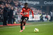 Ousmane Dembele of Rennes during the French Ligue 1 match between Stade Rennais and Olympique Lyonnais at Stade Roazhon Park on March 13 2016 in...