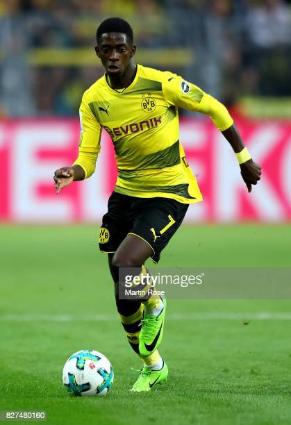 Ousmane Dembélé of Dortmund runs with the ball during the DFL Supercup 2017 match between Borussia Dortmund and Bayern Muenchen at Signal Iduna Park...