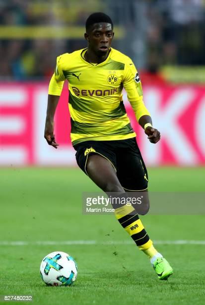 Ousmane Dembélé of Dortmund runs with the ball during the DFL Supercup 2017 match between Borussia Dortmund and Bayern Muenchen at Signal Iduna Park...