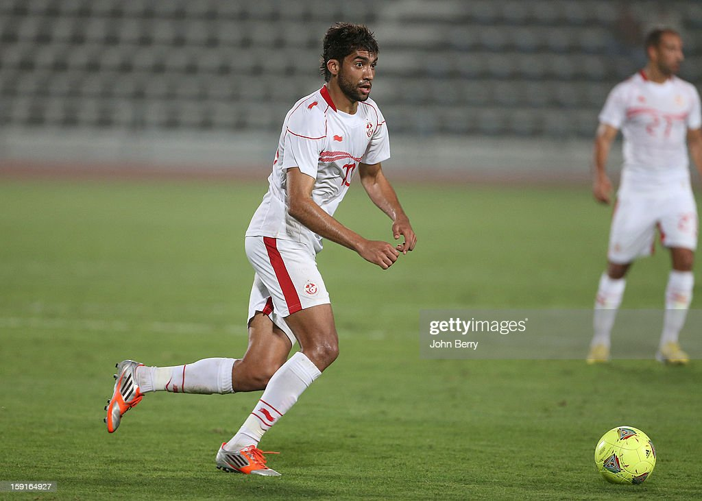 Oussama Darragi of Tunisia in action during the international friendly game between Tunisia and Ethiopia at the Al Wakrah Stadium on January 7, 2013 in Doha, Qatar.