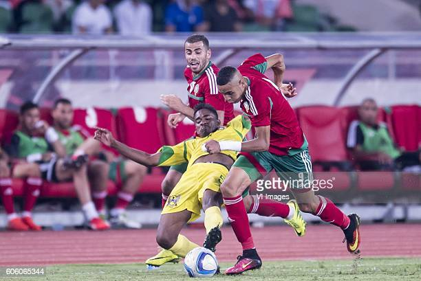 Oussama Tannane of Morocco Charles P Mendes Monteiro of Sao Tome e Principe Youssef En Nesyri of Morocco during the Africa Cup of Nations match...
