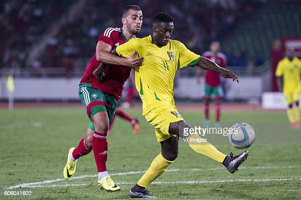 Oussama Tannane of Morocco Harramiz Quieta Ferreira Soares of Sao Tome e Principe during the Africa Cup of Nations match between Morocco and Sao Tome...