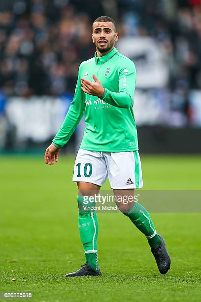 Oussama Tannane of SaintEtienne during the French Ligue 1 match between Angers and Saint Etienne on November 27 2016 in Angers France
