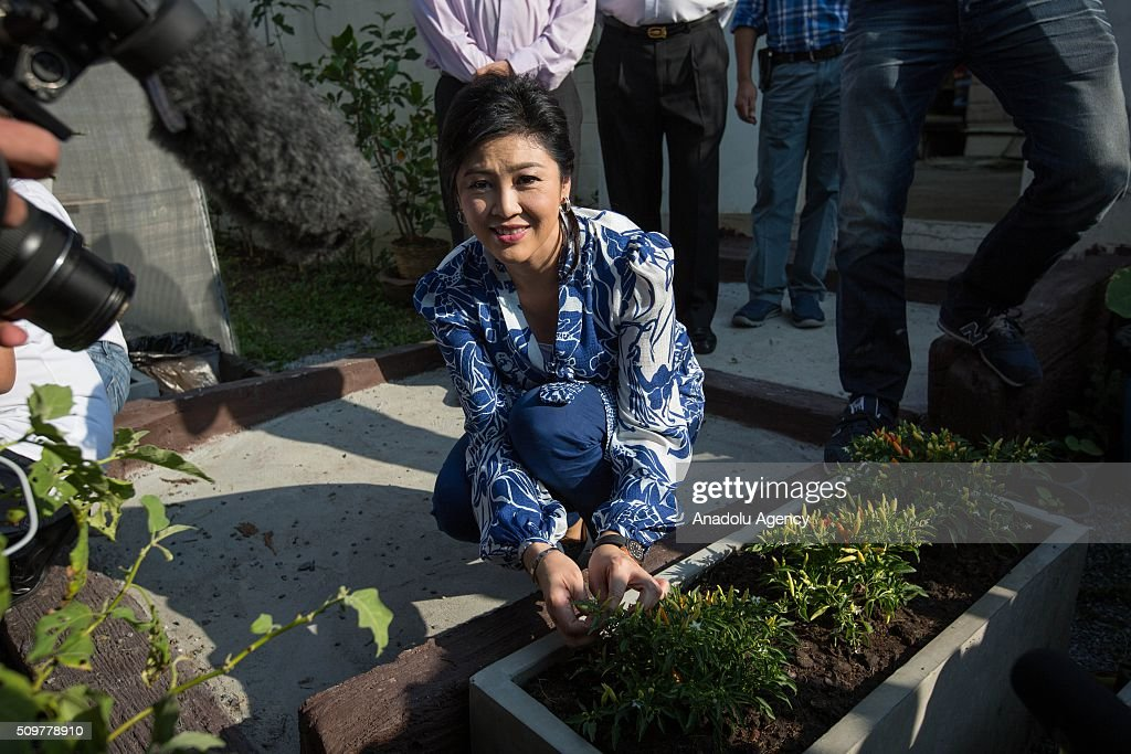 Ousted Thailand's former Prime Minister Yingluck Shinawatra receiving foreign media for the first time at her house for a news conference in Bangkok, Thailand on February 12, 2016.