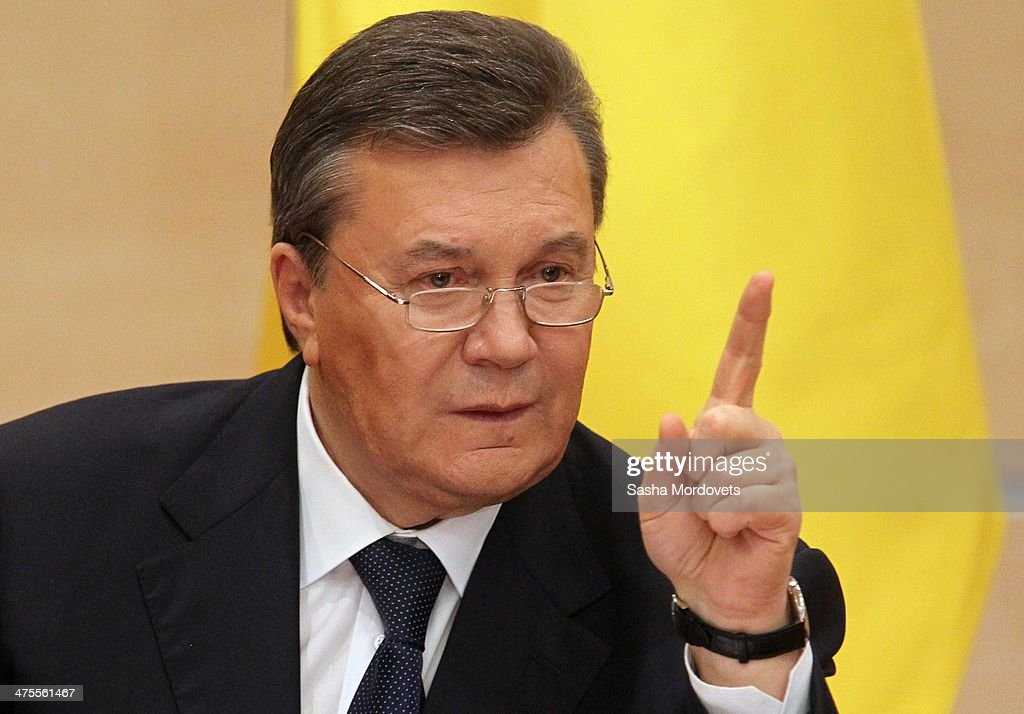 Ousted Ukrainian President Viktor Yanukovych Holds Press Conference In Rostov-on-Don