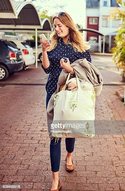 Out and about running her errands