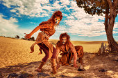 Out of Africa - Humanoids A Lion and Lepoard