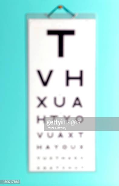Out of focus eye test chart