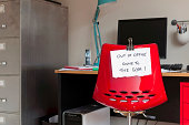 Employee leaves note on back of office chair: 'Out of Office. Gone to The Gym!'
